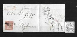 1854-1862 Helvetia (Ungezähnt) Strubel → Balkenst. KERZERS, Raute- Und Rundst. MURGENTHAL  ►SBK-22B1.II/III◄ - Lettres & Documents
