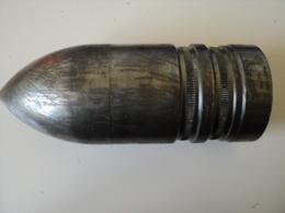 Obus Perforant Inerte 75mm à Identifier!tout Acier,5,300 Kgs! - Armi Da Collezione