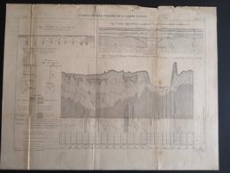 ANNALES PONTS Et CHAUSSEES (Dep 45) - Plan Du Viaduc Sur La Vallée De La Loire à Gien - Graveur Macquet - 1893 (CLF39) - Travaux Publics