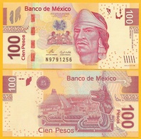 Mexico 100 Pesos P-124b 2009 (Serie H) UNC Banknote - Mexiko