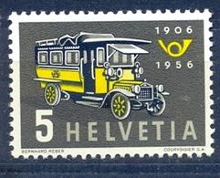 Switzerland 1956 - First Post Car ( Mi 623 - YT 572 ) TransportationTransport Bus - MNH** - Bus