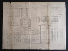 ANNALES PONTS Et CHAUSSEES (Dep 45) - Plan Du Viaduc Sur La Vallée De La Loire à Gien - Graveur Macquet - 1893 (CLF40) - Public Works