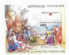 Togo 1989 French Revolution Bicent S/S MNH - Togo (1960-...)