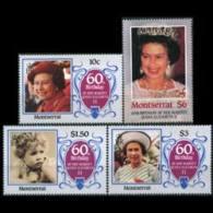 MONTSERRAT 1986 - Scott# 600-3 Queen Birthday Set Of 4 MNH - Montserrat