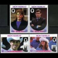 MONTSERRAT 1986 - Scott# 615-6 Royal Wedding Set Of 4 MNH - Montserrat