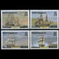 MONTSERRAT 1986 - Scott# 618-21 Clipper Ships Set Of 4 MNH - Montserrat