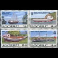 MONTSERRAT 1989 - Scott# 717-20 Ships Built Set Of 4 MNH - Montserrat