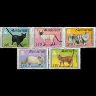MONTSERRAT 1991 - Scott# 784-8 Cats Set Of 5 MNH - Montserrat