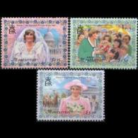 MONTSERRAT 1998 - Scott# 962-4 Diana Set Of 3 MNH - Montserrat