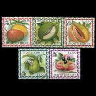 MONTSERRAT 1999 - Scott# 984-8 Fruits Set Of 5 MNH - Montserrat