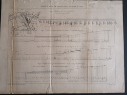 ANNALES PONTS Et CHAUSSEES (Dep 45) - Plan Du Viaduc Sur La Vallée De La Loire à Gien - Graveur Macquet - 1893 (CLF41) - Travaux Publics