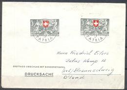 LIQUIDATION TOTALE : 1953 - LOT De 23 LETTRES ET DOCUMENTS Avec TIMBRES De 1953 - Suisse