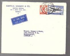 Kantilal Sanghvi Mherwan Bldg. Sir P. Mehta Road To Berger Kantilal Sanghvi & Wirth Leipzig Weldbeuerstrasse (217) - 1936-47  George VI