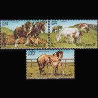 NEW ZEALAND 1984 - Scott# B118-20 Horses Set Of 3 MNH - New Zealand