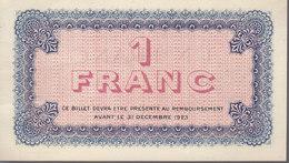 Billet De Nécessité 1 Franc Chambre De Commerce De Lyon (69) - Camera Di Commercio