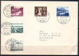 LIQUIDATION TOTALE : 1954 - TRES BELLE LETTRE Avec TRES BEL AFFRANCHISSEMENT (SERIE COMPLETE) - Suisse