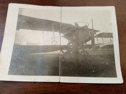 Fotografia Aeroplano 1 Guerra Mondiale Datata 3.10.1918 Purtroppo Piegata - Oorlog, Militair