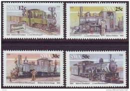 D90819 South West Africa 1985 STEAM TRAINS MNH Set   - SWA Namibia Namibie Sudwes Afrika - Namibië (1990- ...)