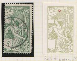 SUISSE UPU 1900:  Variété Du ZNr 77A, Oblitéré - Abarten