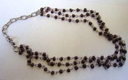 Bijoux. 56. Bracelet De Chevilles à Trois Rangées De Perles. - Bracelets
