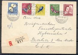 LIQUIDATION TOTALE : 1956 - TRES BELLE LETTRE RECOMMANDEE Avec TRES BEL AFFRANCHISSEMENT (SERIE COMPLETE) - Suisse