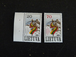 LITUANIE LIETUVA YT 415 ET 416 ** - EVEREST ALPINISME - Lithuania