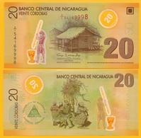 Nicaragua 20 Cordobas P-202b 2007 UNC Polymer Banknote - Nicaragua