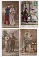 CPA - COUPLE / MILITAIRE- 12 Cartes - Couples