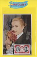 1956 GRACIA GRACE KELLY DE  MONACO  MARIAGE Avec Le PRINCE Rainier III ( Pivoine Rose ) - Beroemde Vrouwen