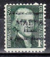 USA Precancel Vorausentwertung Preo, Locals Illinois, Malta 701 - Vereinigte Staaten