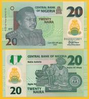 Nigeria 20 Naira P-34l 2016 UNC Polymer Banknote - Nigeria
