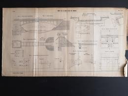 ANNALES DES PONTS Et CHAUSSEES  - Plan De La Gare D'Eau De Branla - 1907 (CLF43) - Travaux Publics