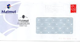 Entier Postal PAP à Fenêtre Timbré Sur Commande MATMUT Mutuelle D'assurance - Entiers Postaux