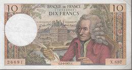 """Billet 10 Francs """"Voltaire"""" En Etat D'usage_voir Scan. - 1962-1997 ''Francs''"""