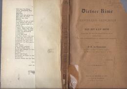1896 DIETSCE RIME GEESTELIJKE GEDICHTEN  UIT DE XIIIe XIVe & XVe EEUW K. DE GHELDERE MET HANDTEKENING EN OPDRACHT ... - Livres, BD, Revues