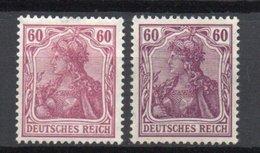 - ALLEMAGNE - Yvert & Tellier N° 90 Neuf * - 60 P. Lilas Germania Emission De Paix 1905-1912 - Cote 250 EUR - - Alemania
