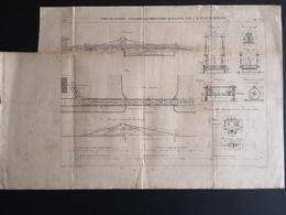 ANNALES DES PONTS Et CHAUSSEES (IDep 76) - Plan Du Port De Dieppe - Graveur E.Pérot 1881 (CLF45) - Zeekaarten