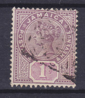 Jamaica 1889 Mi. 23      1p. Queen Königin Victoria Wmk. Crown CA - Jamaica (...-1961)