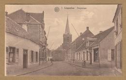 Puurs Lippelo  Lippeloo  Dorpstraat. Geanimeerd. (1928). Gelopen Kaart. - Puurs
