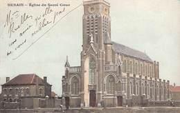 59 - Denain - Eglise Du Sacré-Coeur (animée, Colorisée, Cacheux Lambert) - Denain