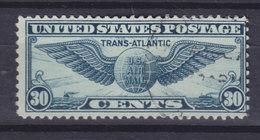 United States 1939 Mi. 450    3c. 1. Transatlantikflug New York-Marseille Geflügelter Globus - Luftpost