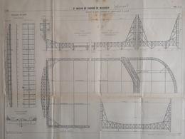 ANNALES DES PONTS Et CHAUSSEES (IDep 83) - Plan Du 3ème Bassin De Radoub De Missiessy - Imp L.Courtier 1899 (CLF47) - Cartes Marines