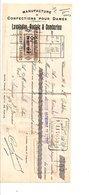 TRAITE LAVALADAS, AUCLAIR, COMBARIEU CONFECTIONS à CLERMONT FERRAND 1926 - France