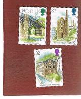 GRAN BRETAGNA (GREAT BRITAIN) - SG 1440.1442  -  1989  INDUSTRIAL ARCHAEOLOGY  - USED - 1952-.... (Elizabeth II)
