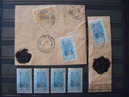 CONGO FR. 1930 Nr 107 X 4 + 2 FRAGMENTS AVEC CACHET DE CIRE - Congo Français (1891-1960)