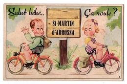 CARTE A SYSTEME SALUT BEBES A VELO DE ST MARTIN D ARROSSA - Humour