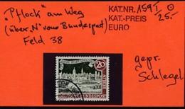 BERLIN Mi. Nr.  159 I 725 Jahre Stadt Spandau - Plattenfehler I - Geprüft - Used - [5] Berlin