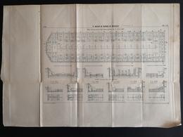 ANNALES DES PONTS Et CHAUSSEES (IDep 83) - Plan Du 3ème Bassin De Radoub De Missiessy - Imp L.Courtier 1899 (CLF49) - Zeekaarten