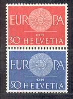 LIQUIDATION TOTALE : 1960 - Zu N° 373/74 - Mi N° 720/21 - Yv N° 666/67 ** (MNH) Et Oblitérés (o) + 4 Documents - Suisse
