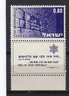 ISRAEL - Y&T N° 340** - Le Mur Des Lamentations à Jérusalem - Ungebraucht (mit Tabs)